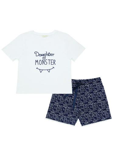 Katia & Bony Monster Junior Kız Çocuk Şort Set  Beyaz